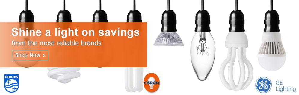 Shine a light on savings from the most reliable brands