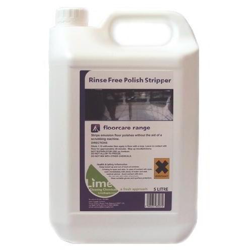 Rinse free floor polish stripper 5lt