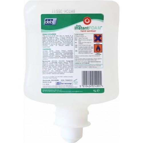 Deb Instant FOAM sanitiser Complete 6 x 1lt DIS1000ML