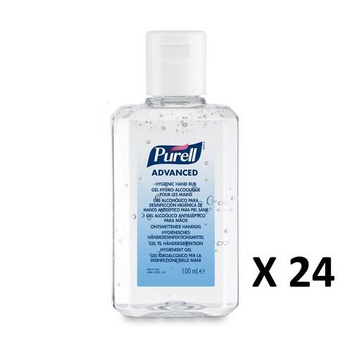 Purell Advanced Sanitiser Personal flip top Bottle (24x100ml) 9661-24