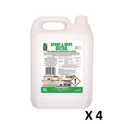 Spray & wipe Ultra Viricidal cleaner (4x5lt)