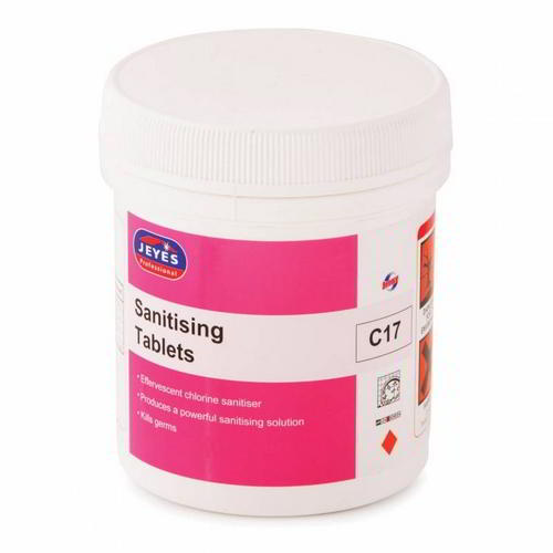 Effervescent disinfectant, cleaning & sanitising chlorine tablets