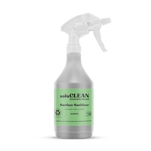 Solulime solupak Sanitiser spray bottle (green top) SCPPBOTTLE750FSP