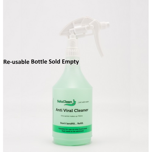 SoluClean Anti Viral Cleaner Re-Usable Trigger Spray SCPPBOTTLE750AVC