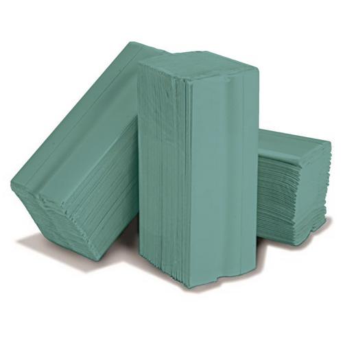 C Fold green hand 1 ply towel (20x140)