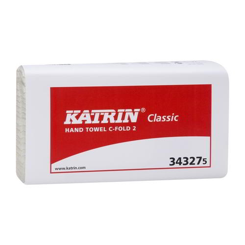 Katrin Classic C Fold 2 ply Hand Towels White  343275 ( 2250)