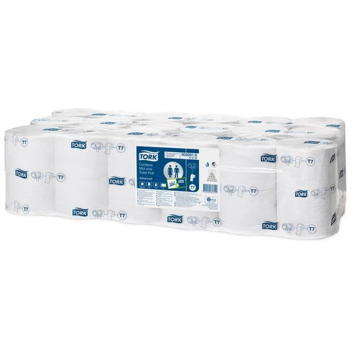 Tork Advanced Coreless Mid-size Toilet Roll (T7) 472199 Eco Label