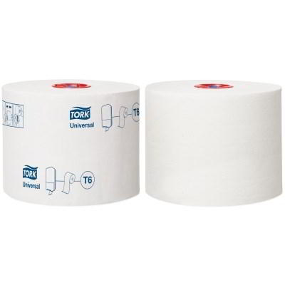 Tork Universal Mid-size Toilet Roll (T6) 127540 Eco Label