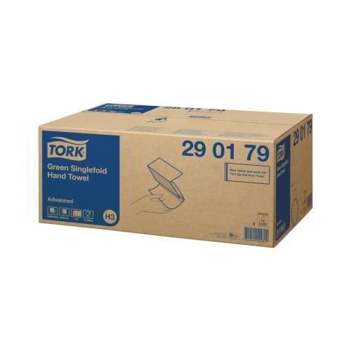 Tork Advanced Green Singlefold Hand Towel (H3) (290179) Eco Label