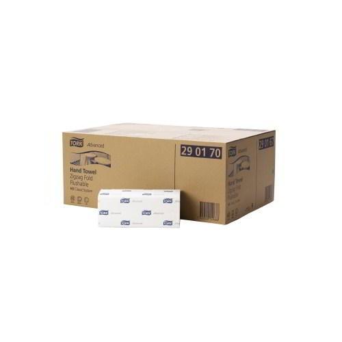 Tork Advanced Flushable Singlefold Hand Towel (H3)  290190 Eco Label