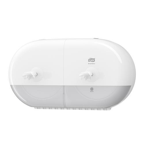 Tork SmartOne Twin Mini Toilet Roll Dispenser White (T9) 682000