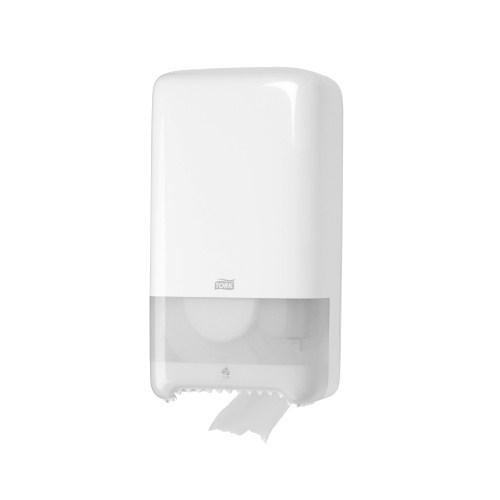 TorkTwin Mid-size Toilet Roll Dispenser White( (T6)  557500
