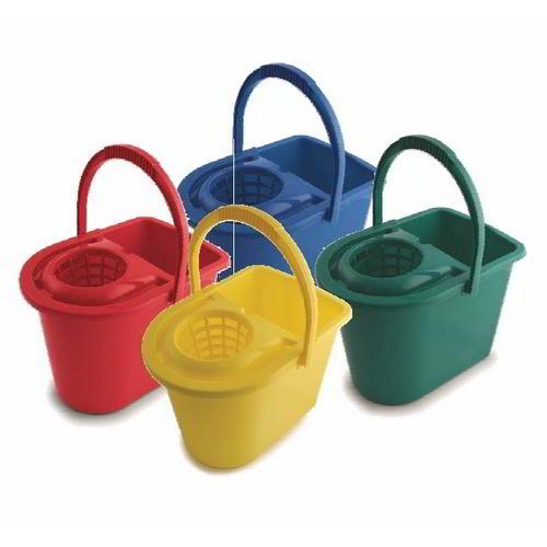 Socket colour coded mop bucket