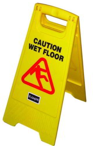 Wet Floor cleaning safety sign
