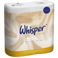 Whisper Gold Premium Luxury Triple Soft 3plyToilet Rolls  (40)