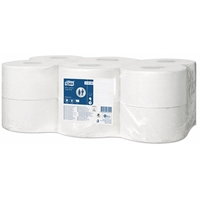 Tork Advanced Mini Jumbo Toilet Roll 1ply (T2) 110163 Eco Label