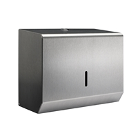 Brushed Stainless Steel Small Paper Hand Towel Dispenser