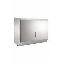 Polished Stainless Steel Small Paper Hand Towel Dispenser