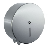 Brushed Stainless Steel Jumbo Toilet roll dispenser 12""