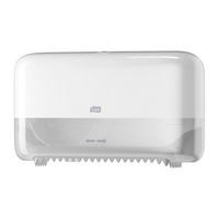 Tork Twin Coreless Mid-size Toilet Roll Dispenser White (T7) 558040