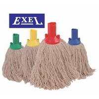 Exel colour coded twine 200grm mop head (Pack 10 )