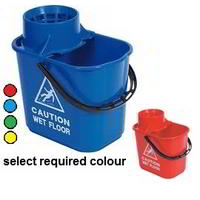 Exel Socket mop bucket with wringer 15Ltr
