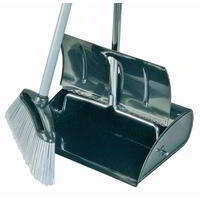 Lobby Dustpan & Brush complete ( HD Stainless steel)