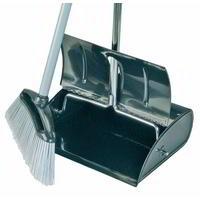 Lobby Dustpan & Brush complete ( HD Stainless steel)