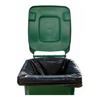 Extra heavy duty black wheelie bin liner 30x48x54 (100)