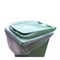 Heavy duty CLEAR wheelie bin liner 30x45x54 (100)