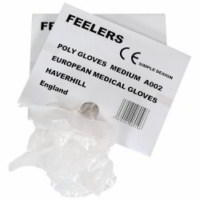 Polythene disposable gloves medium sized (100)