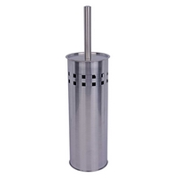 Toilet brush set enclosed stainless steel