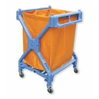 Folding rubbish & laundry collection trolley